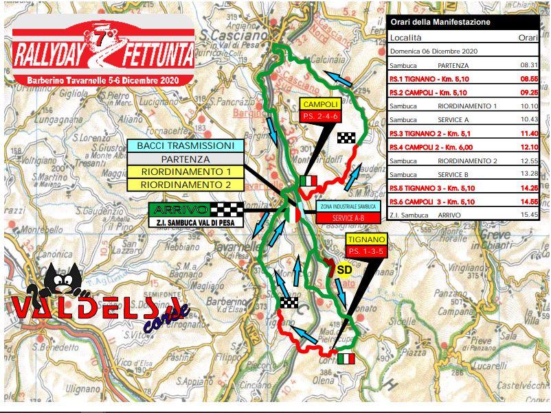 Cartina Rallyday Fettunta 2020